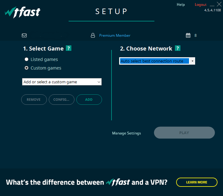 How to set up a custom game – wtfast Support