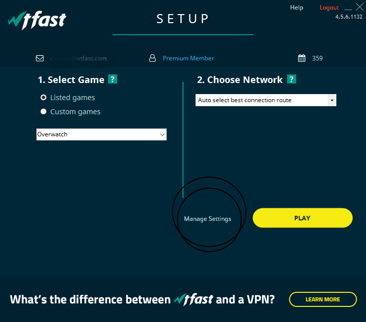 Automatic Multi-Server Selection – wtfast Support